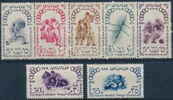 1960 Nyári Olimpia, Róma sor, közte 5-ös csík Mi 608-614