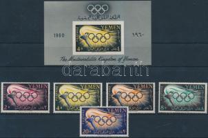 1960 Nyári Olimpia, Róma sor Mi 200-204 + blokk 2
