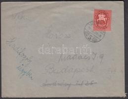 1946 (13.díjszabás) Távolsági levél Lovasfutár 500ezerP bérmentesítéssel