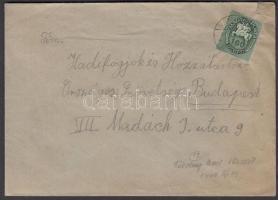 1946 (12.díjszabás) Távolsági levél Lovasfutár 160ezerP bérmentesítéssel