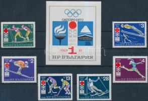 Winter Olympics in Sapporo set + block, Téli Olimpia, Sapporo sor + blokk