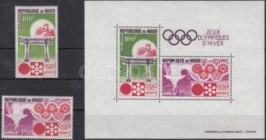 1972 Téli Olimpia, Sapporo sor Mi 316-317 + blokk 7