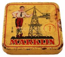 cca 1930 Märklin fémdoboz / Metal box 6x6 cm