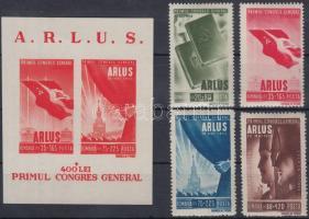 Román-szovjet barátság sor + blokk, Romanian-Soviet friendship set + block