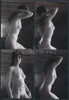 cca 1980 6 db korabeli negatívról készült modern nagyítás, finoman erotikus képek, 13x9 cm / cca1980 6 erotic photos, 13x9 cm