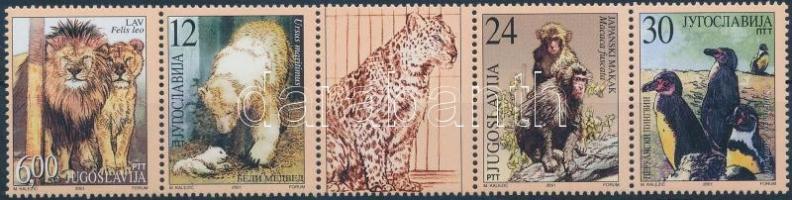Animals set in coupon stripe of 5, Állatok sor szelvényes 5-ös csíkban