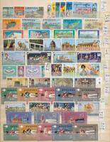 Főleg brit nemzetközösségi sorok, blokkok, szép motívum anyag 16 lapos A/4 berakóban / 32 pages A/4 stockbook full of mostly British Commonwealth sets and blocks, nice thematic material
