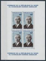 1967 Konrad Adenauer blokk Mi 4