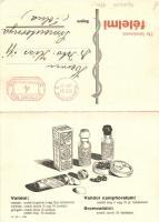 Sedative pills advertisement, folding card, Validol tabletta reklám, kinyitható lap