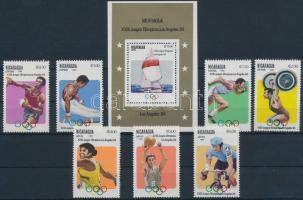 1983 Nyári Olimpia, Los Angeles sor Mi 2346-2352 + 147
