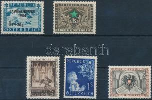 5 diff stamps, 5 klf önálló érték