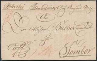 1828 Ex offo piros / red Mitrovicz - Zombor