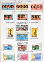 Fülöp szigetek 1964-1969 145 klf bélyeg sarkuknál beragasztva albumban