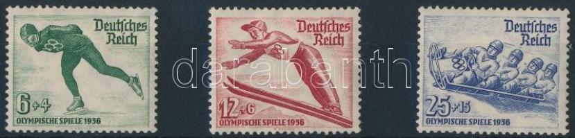 1935 Téli olimpia sor Mi 600-602 x