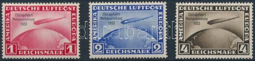 1933 Zeppelin - Chicagofahrt sor Mi 496-498