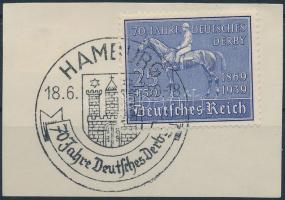 1939 Lóverseny; Német Derby Mi 698 elsőnapi alkalmi bélyegzéssel
