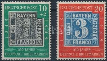 1949 100 éves a német bélyeg 2 érték Mi 113-114
