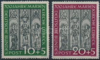 1951 Marienkirche Lübeck sor / set Mi 139-140