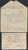 1831-1844 2 db levél klf SIKLOS bélyegzéssel / 2 covers with different SIKLOS postmarks