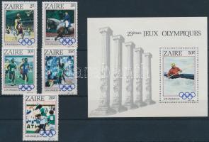 Zaire 1984 Nyári Olimpia, Los Angeles sor Mi 861-865 + blokk 49