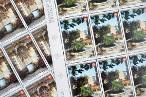 Lovagrend rezidenciája sor (2 érték) teljes ívekben Residence of Knights set 2 stamps in full sheets