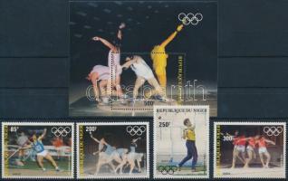 1983 Nyári Olimpiai, Los Angeles sor Mi 846-850 + blokk 40