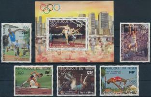 1984 Nyári Olimpiai, Los Angeles sor Mi 876-880 + blokk 41