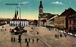 Sighetu Marmatiei, main square, Máramarossziget, Fő tér, 'vissza' So. Stpl
