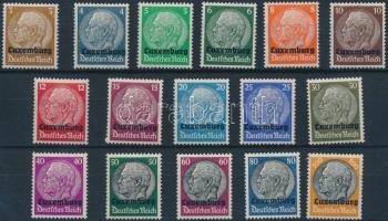 Luxemburg 1940 Mi 1-16 (2 záróérték postatiszta)