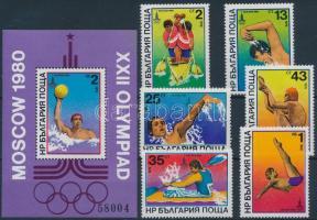 1979 Nyári olimpia (III) sor Mi 2840-2845 + blokk 98