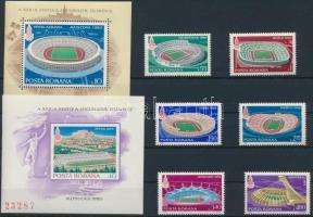 1979 Nyári olimpia (I) sor Mi 3625-3630 + blokkpár 161-162