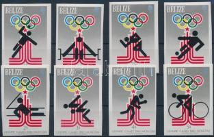 1979 Nyári olimpia sor Mi 432-439 B