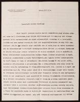 1927 Lábán Antal(1884-1957) a bécsi Collegium Hungaricum igazgatójának levele aláírásával
