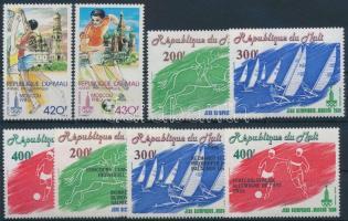 1979-1980 Olimpia 3 klf sor Mi 686-687 + 755-757 + 794-796