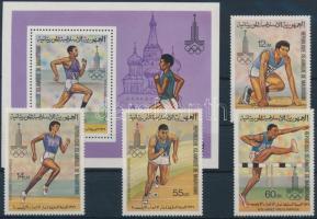 1979 Nyári olimpia sor Mi 652-655 + blokk 26