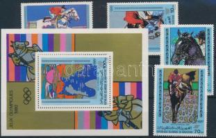 1980 Nyári olimpia sor Mi 680-683 + blokk 27