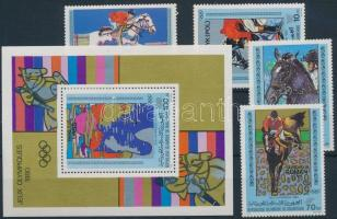 1980 Nyári olimpia sor Mi 699-702 + blokk 30