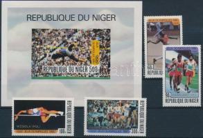 1980 Nyári olimpia sor Mi 695-698 + blokk 27