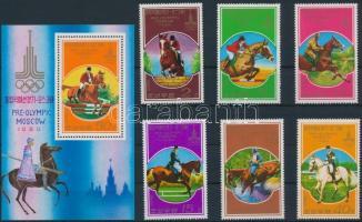 1978 Előolimpiai sportjátékok sor Mi 1707-1712 + blokk 47
