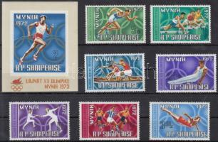 1971 Nyári olimpia sor Mi 1499-1505 + blokk 42