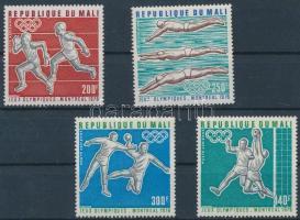 1976 Montreali nyári olimpia sor Mi 535-538