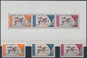 1972 Nyári olimpia sor Mi 438-440 + blokk 10