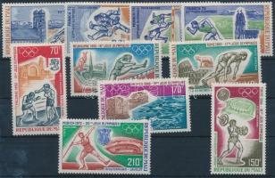 1972 Nyári olimpia 2 klf sor Mi 316-319 + 355-360