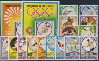 1972/1973 Olimpiai aranyérmesek sor Mi 387-401 + blokkpár 6-7