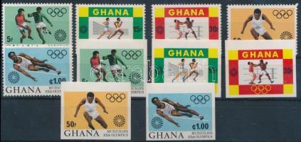 Summer Olympics perf + imperf set, Nyári olimpia fogazott + vágott sor