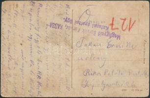 Postcard from Kassa observation barrack hospital, ~1916 A kórházat ábrázoló képeslap a Kassai Megfigyelő Barakk Kórházból