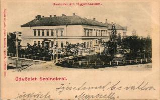 Szolnok, Állami főgimnázium; Szigeti H. udvari fényképész kiadása