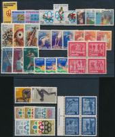 Olympics 1974-1976 11set +2 blocks in 2 steck card, Olimpia motívum 1974-1976 11 klf sor + 2 klf négyestömb 2 db stecklapon