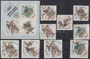 1969 Olimpia sor Mi 323-331 B + blokk 16 B