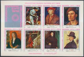 1971 München, az olimpia helyszíne, festmények (II) kisív Mi 1336-1342